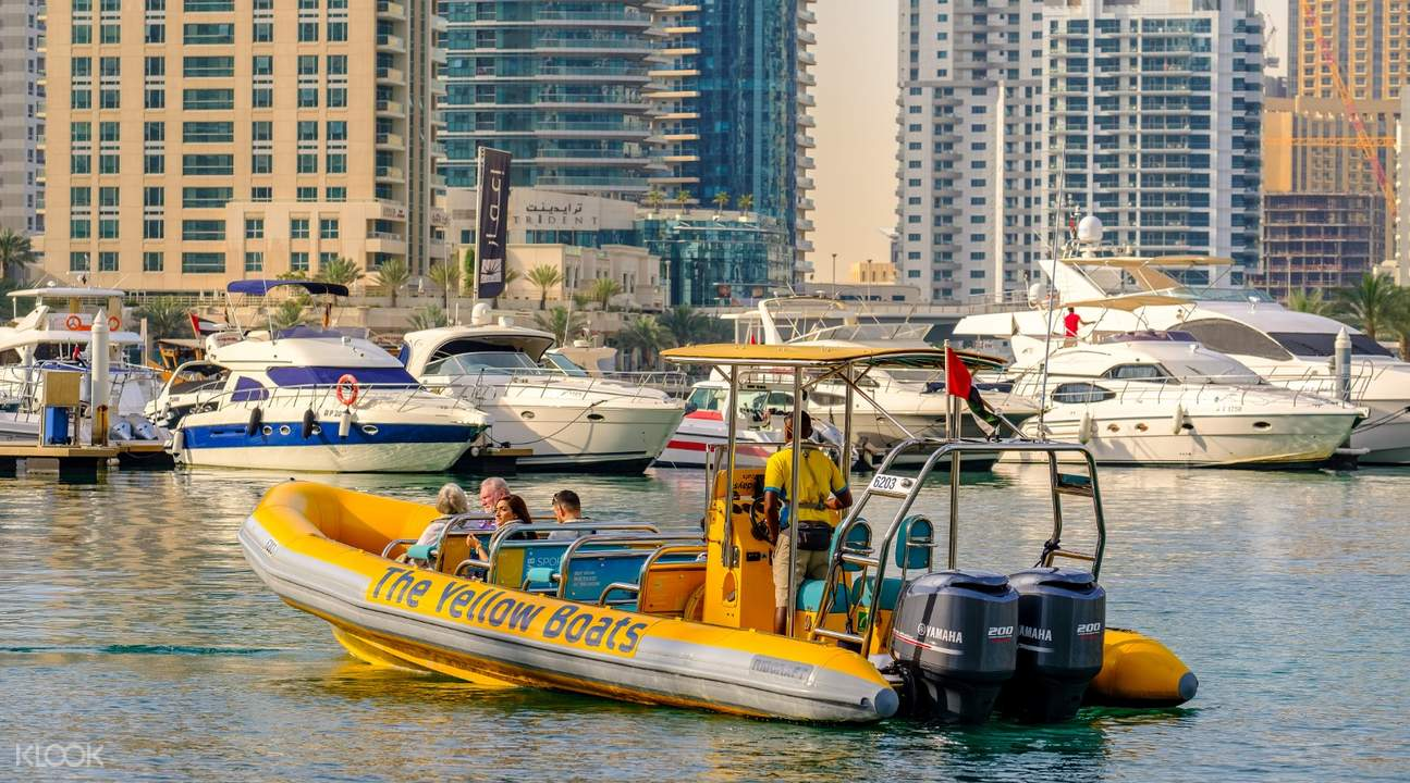yellow boat ride tour